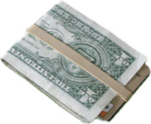 Fat wallet - change to a thin and slim minimalistic money band!